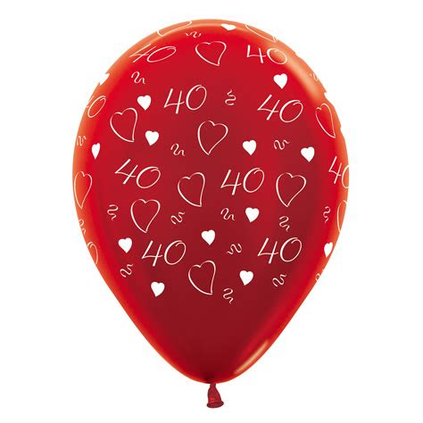 ruby wedding  anniversary balloons helium  air