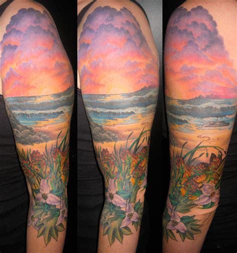 sunset   beach tattoojpg