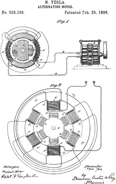 Selected Tesla Patents: Alternating Motor | CosmoLearning