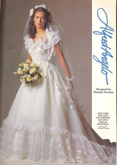 Alfred Angelo vintage designer fashion bride ad, designed