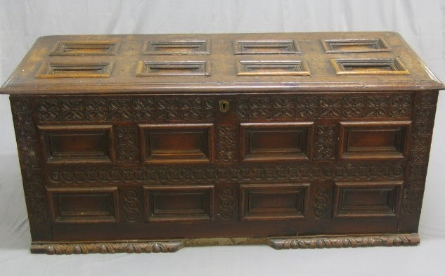 Antique Dresser Four Drawer Hinged Mirror Carved Flowers