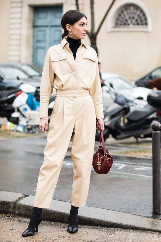 Le  Fashion  Blog  Paris  Fashion  Week  12  Jumpsuits  To  Shop  For  Spring  Neutral  Jumpsuit  Over  Turtleneck  Via  Sandra  Semburg