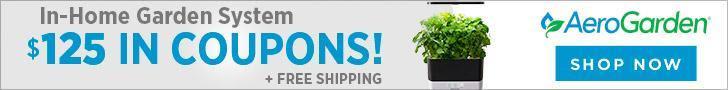 AeroGarden.com - $125 in Coupons