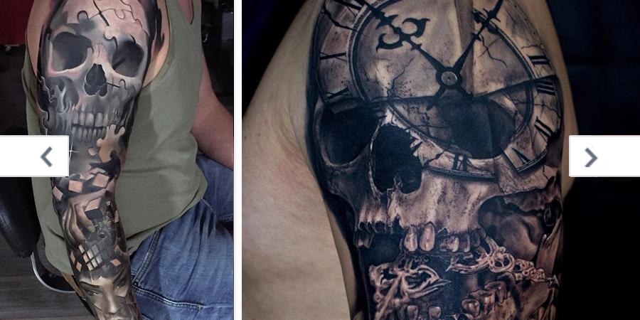 Tattooscom Eye Catching Skull Sleeve Tattoo Ideas