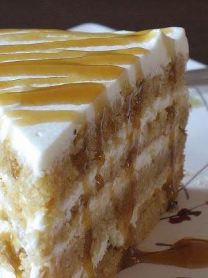 Butterscotch Mascarpone Cream Layer Cake