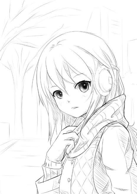 sketsa gambar anime keren wallpaper keren