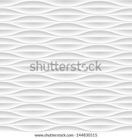 White Seamless Texture. Wavy Background. Interior Wall Decoration