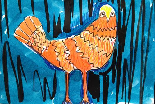 Scared bird by Michelle Schamis