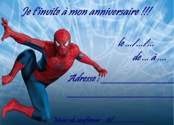 Carte Dinvitation Spiderman Anniversaire Gratuite A Imprimer