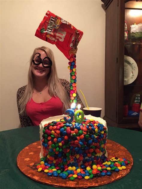 M & M Illusion Cake   CakeCentral.com