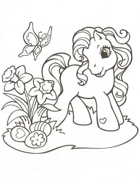 ausmalbilder filly pferde drucken  kostenlose malvorlagen