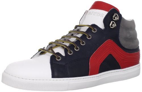 DSQUARED2 Men's Wings Nappa Sport Sneaker,Rosso,41.5 EU/9.5 M US
