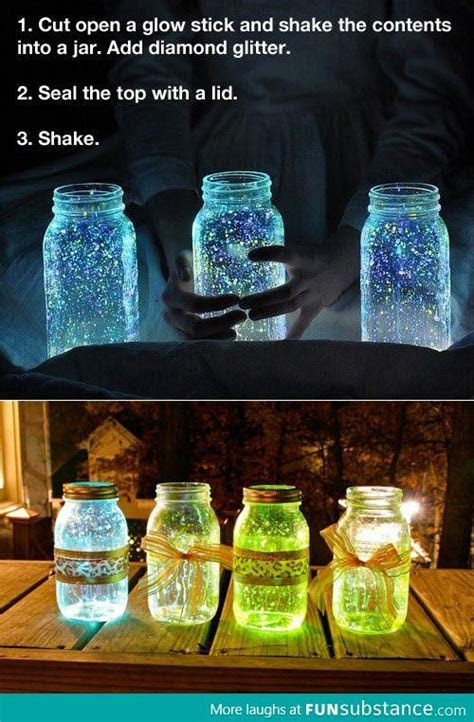 Glow stick jar   crafts   Glow stick jars, Crafts, Wedding