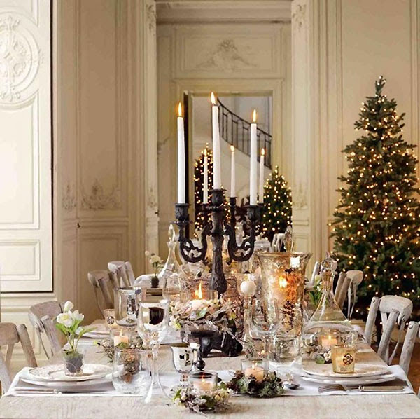 and decorations that elegant christmas decorating ideas mantle elegant christmas tablescape features twin wrought iron candelabras elegant christmas - Elegant Christmas Decor