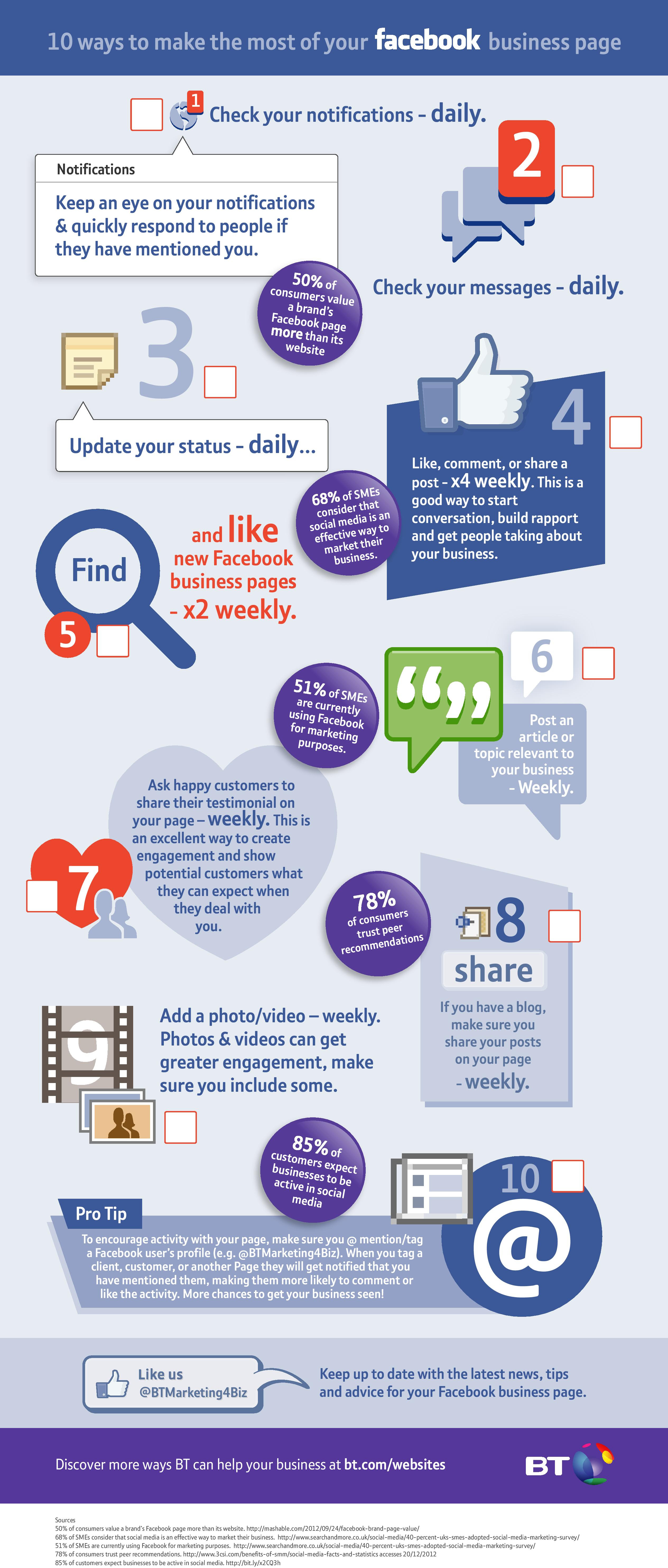 infographic:10 tips to make the most out of your Facebook business page