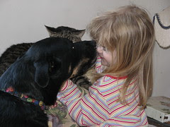 Nellie kisses Lorelei