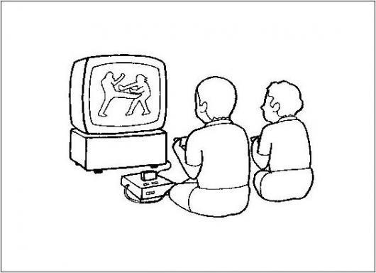 Consolas De Juegos Dibujo De Ninos Jugando Mortalkombat Teken Y