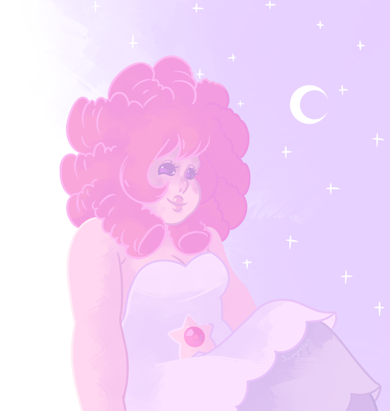 rose with short hair? yes. Steven Universe  © Rebecca Sugar Artwork  © me