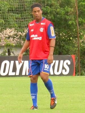 Ronaldinho Gaúcho no treino do Flamengo (Foto: Janir Júnior / Globoesporte.com)