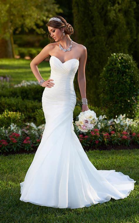 Organza Fit & Flare Corset Wedding Dress   Stella York