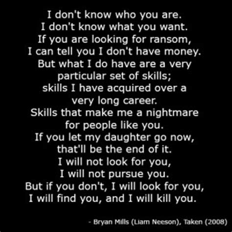 Taken Movie Quotes I Will Find You