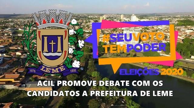 Eleições 2020: ACIL promove debate com os candidatos a prefeito de Leme