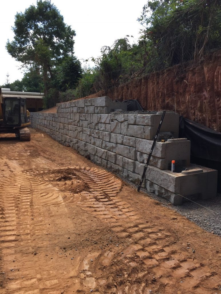 Retaining Walls Verti Block Carolina Ready Mix Swannanoa Nc