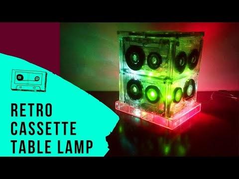How to Make a retro Cassette Tape Lamp - DIY Lighting Hacks - TopThingz
