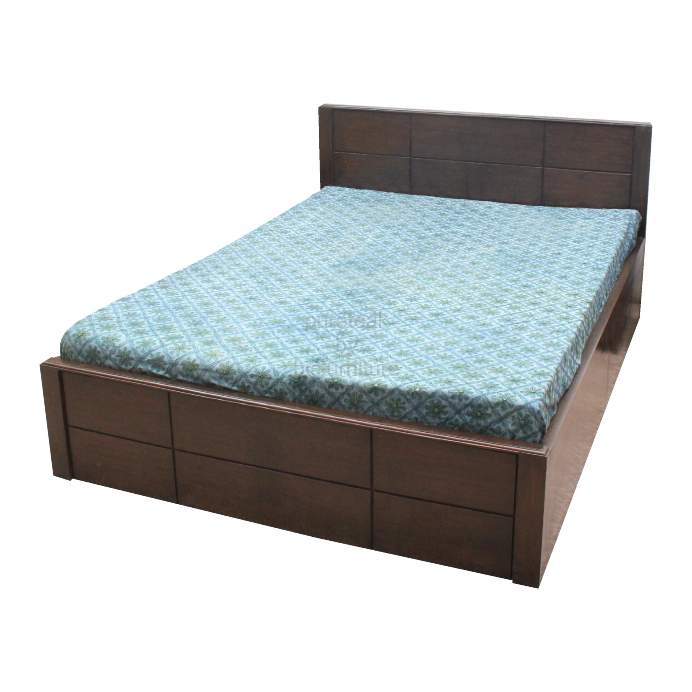 Teak Wood Double Bed With Dark Finish Bed 33 Details Bic