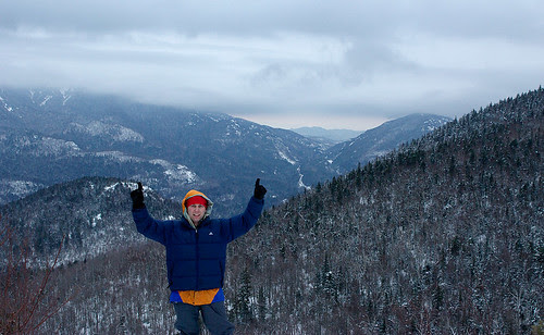 Me 1-1-08 @ 7:30am on the summit of Rooster Comb Mtn.