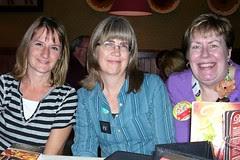 ScrapFest2012 Kathy Linda and me Fri