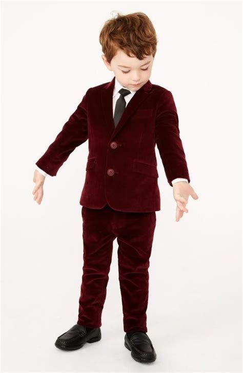 custom  winter burgundy red tuexdo suit kids boys