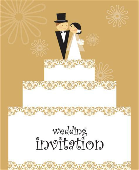 Set of wedding invitation cards design vector Free vector