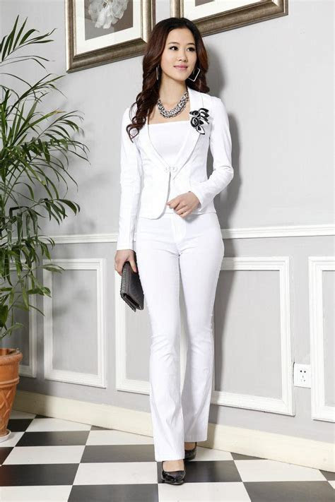 Womens White Pants Suit Sale Dress Yy