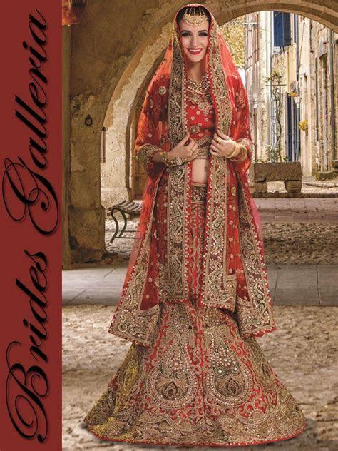 Red Net Bridal Wear Lehenga Choli [BGLH 3583] : Punjabi
