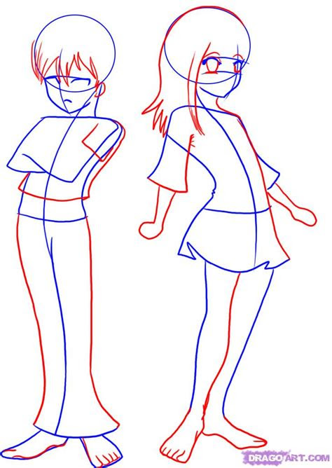 draw anime kids step  step anime females anime