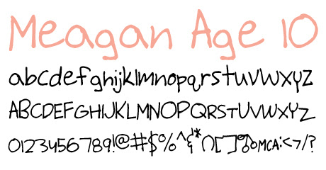 click to download Meagan Age 10