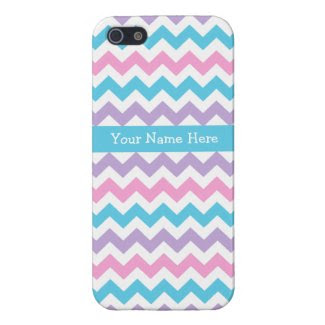 Custom iPhone 5 Savvy Case Multicolor Chevrons Covers For iPhone 5