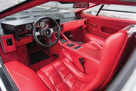 Interior Lamborghini Countach LP5000 S Quattrovalvole North America '1987?88