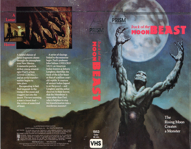 Track Of The Moon Beast (VHS Box Art)