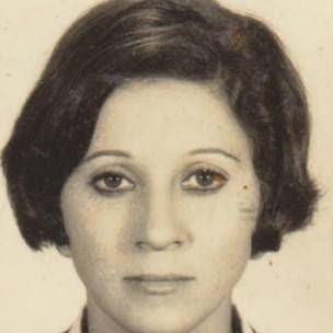A jornalista Iza Salles, em imagem do perído do regime militar (Arquivo pessoal)