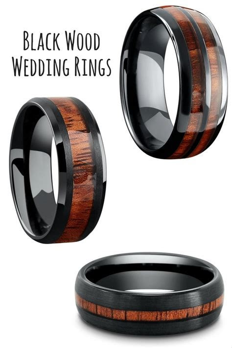 Mens black tungsten wedding rings. Durable and waterproof