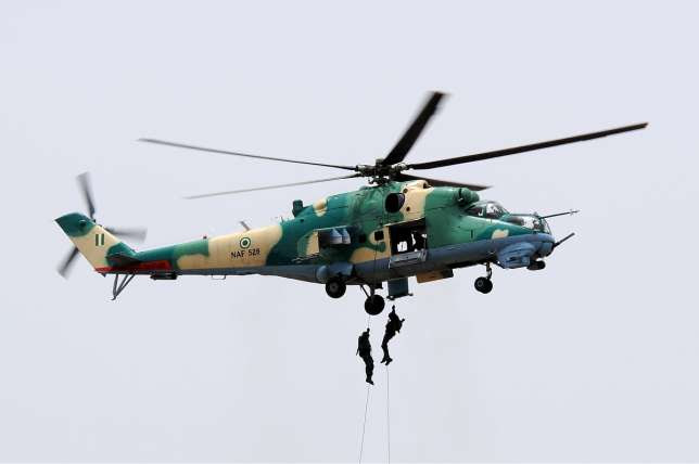 Nigerian Air Force chopper crashes
