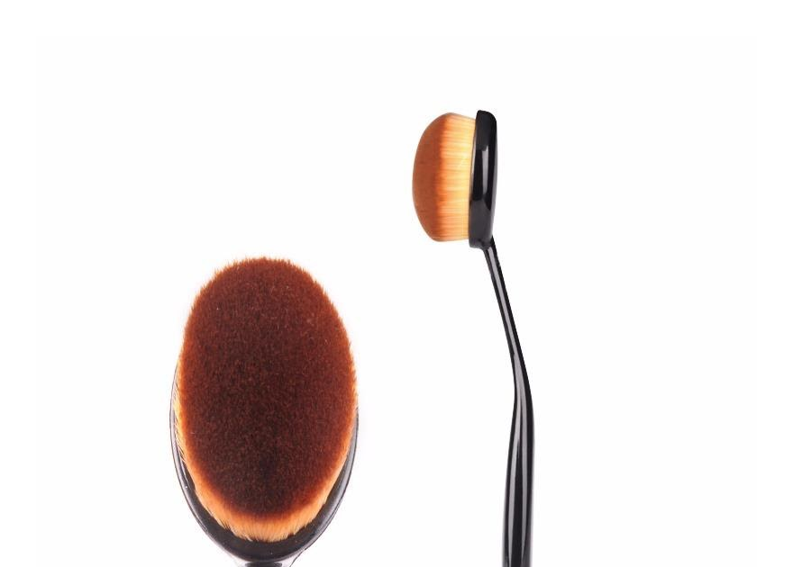 MURAH JBS New York makeup brush kuas Oval / Kuas Foundation / Coklat / K -