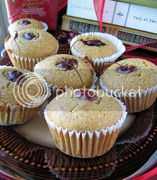 Corn Muffins (cherries)