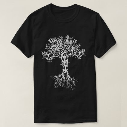 Skeleton Tree Print Shirt