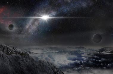 <p>Ilustración de la supernova superluminosaASASSN-15lh vista desde un exoplaneta situado a unos 10.000 años luz de distancia en su galaxia anfitriona. / Beijing Planetarium/Jin Ma</p>