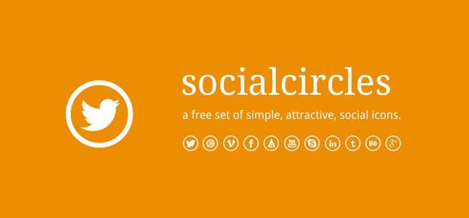 Socialcircles - Free social icons (circular)