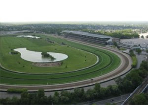 Aerial view of Belmont Park.  Google image