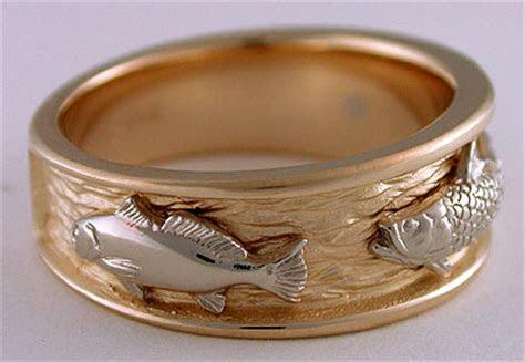 triple fish wedding bands